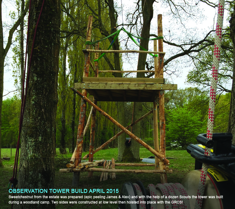 buxted scouts build fantastic observation tower