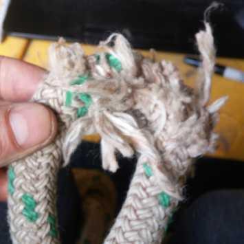 Torn rope