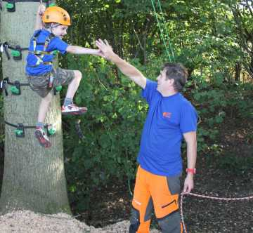 Tree climbing for children