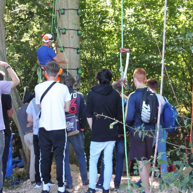 Climbing demo to Hadlow College students