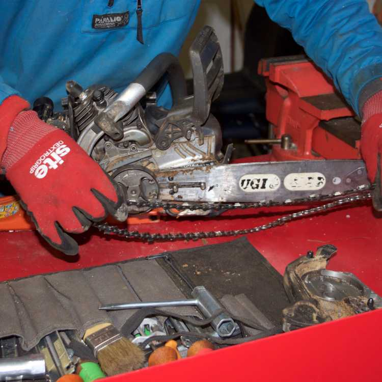 chainsaw maintenance - remove chain
