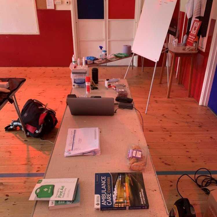 Training room set up 1