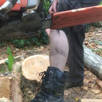 Chainsaw Accidents – PPE choice, training and bad chain brake practice.