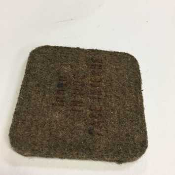 Fabric block air filter - more common on brushcutters....