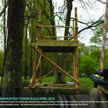 Buxted scouts build observation tower